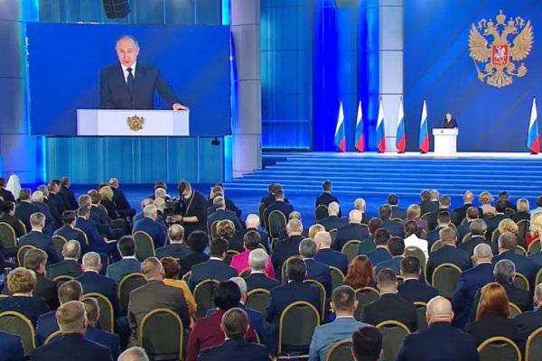 За год упал интерес к посланию Путина к Федеральному собранию